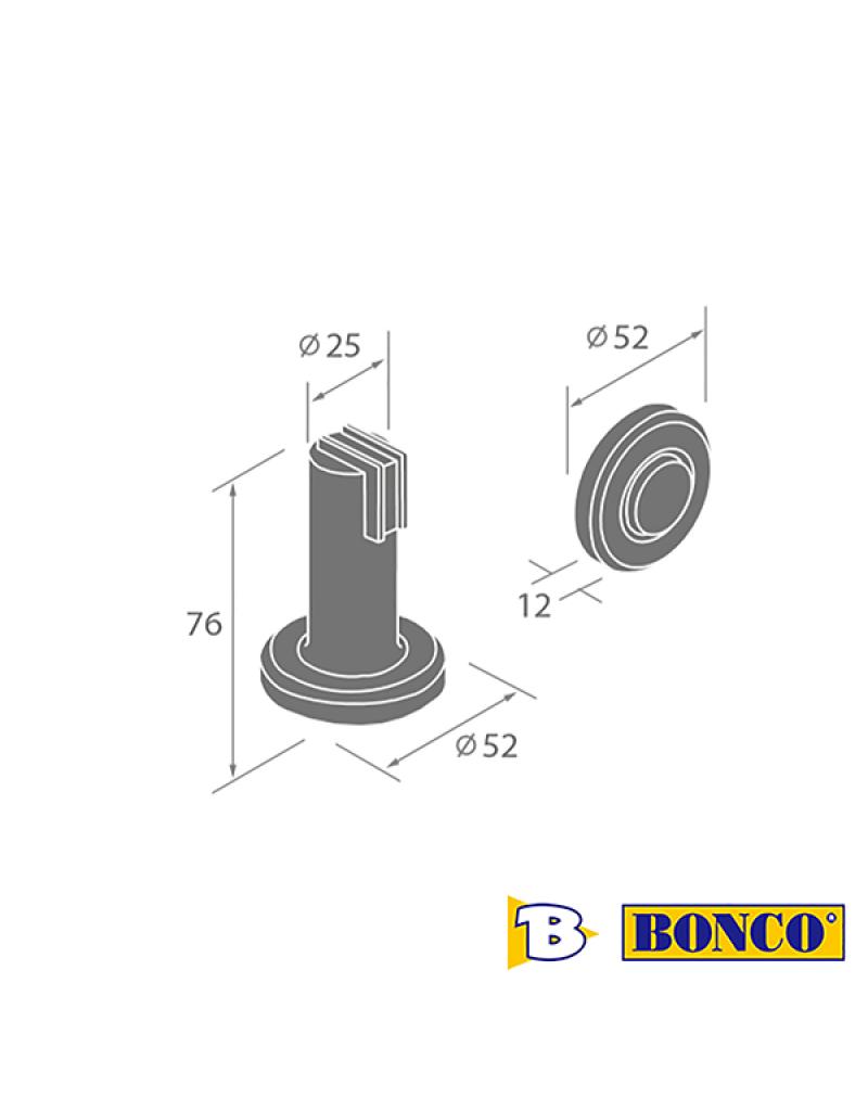 Bonco DS-027 Wall/Floor Mounted Door Stopper