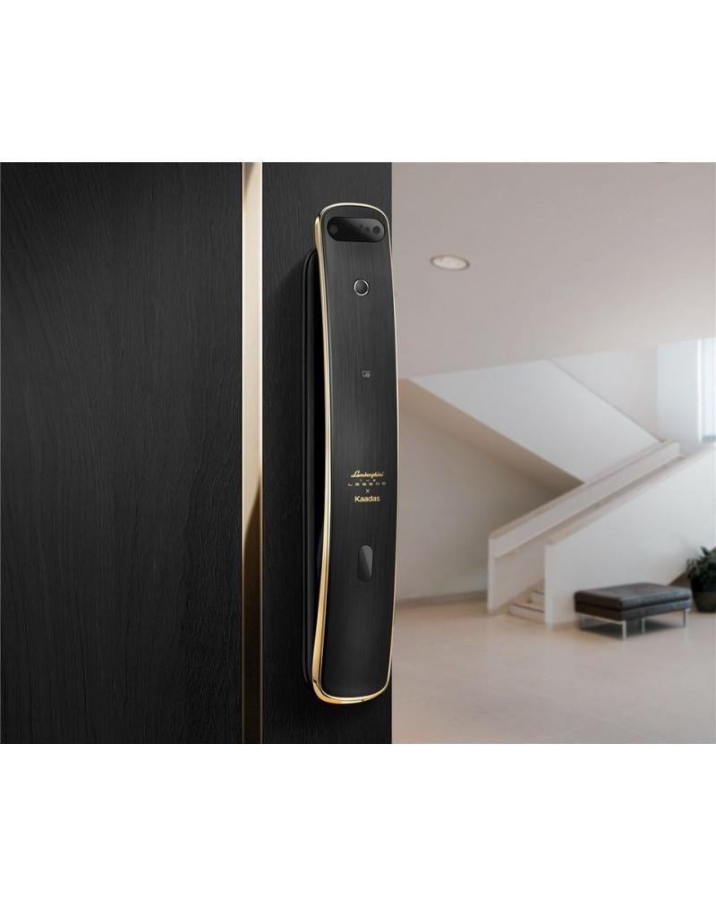 Kaadas x Lamborghini The Legend 3D Face Recognition 6-in-1 Push-Pull Smart Door Lock